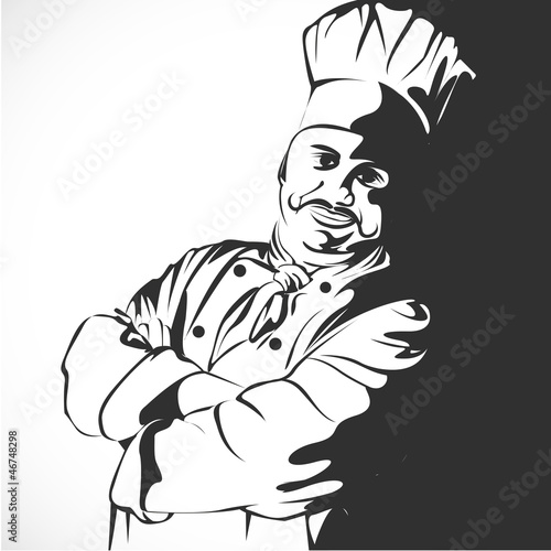 Boulanger p tissier chef cuisinier fichier vectoriel for Cuisinier xviii