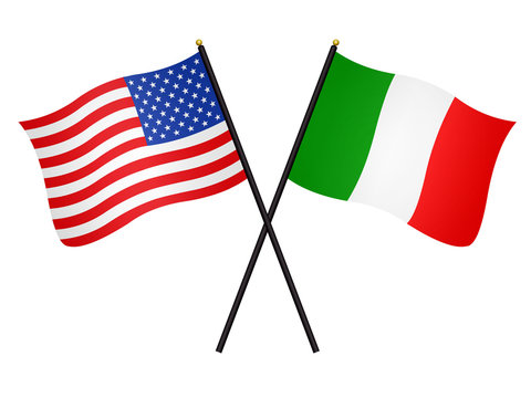 Flags: the USA and Italy
