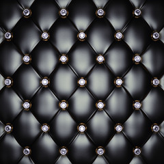 Black upholstery pattern with diamonds , 3d illustration