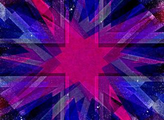 Purple grunge Christmas star background