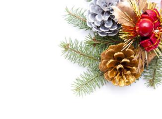 pinecone christmas border