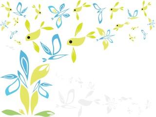 spring fantasy floral  background (eps10)