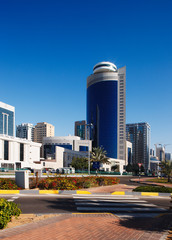 A street-scape of Abu Dhabi develops in the twenty first century