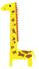 Photo sur Aluminium Echelle de hauteur Height scale kids giraffe vector