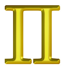 Golden Greek Letter Pe