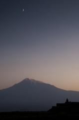 The Khor Virap monastery with Ararat mountain.