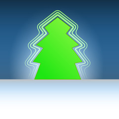 classic shape christmas green tree flare vector template