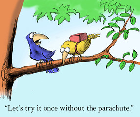 Let's try it once without the parachute