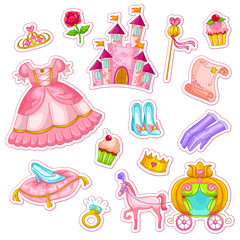 collection of items related to princesses