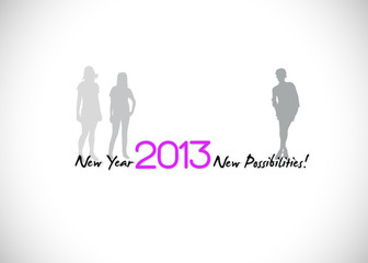 2013 new year new possibilities background