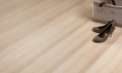 Texture of wooden floor with empty space to put text on it.