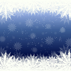 winter background snow and snowflakes
