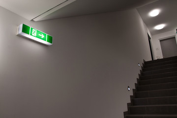 emergency exit sign Wall mural