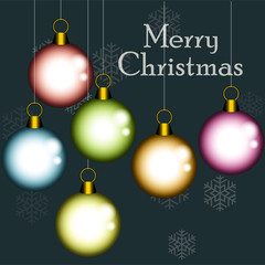 Christmas balls background with place for your text