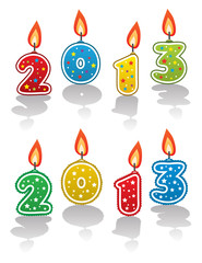 vector new year 2013 candles