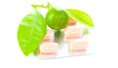 choice lemon or vitamins pill medical