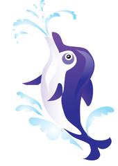 Tuinposter Dolfijnen Dolphin
