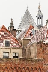 The Dutch historic town Zutphen in winter