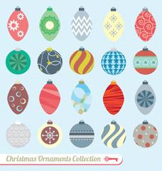 Vector Set: Vintage Christmas Ornaments