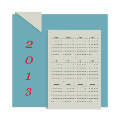 Calendar 2013 vector format