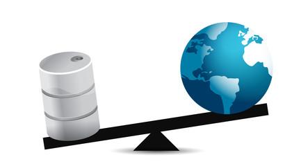 oil and globe balance