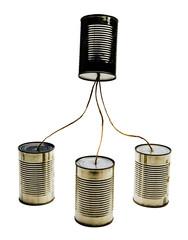 Four tin can phones