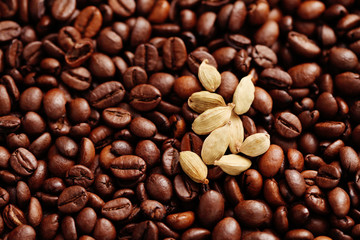 coffee beans with cardamom