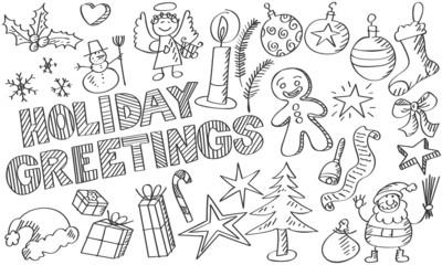 Skizzen Weihnachtssymbole 1