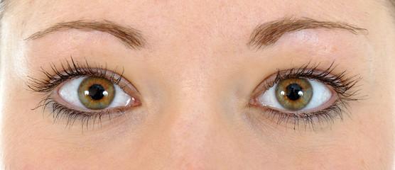 Augenpaar im Ausschnitt