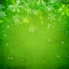 Beautiful snowflake Christmas background with copyspace