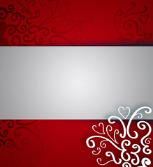 Beautiful Christmas background with ribbon and copyspace