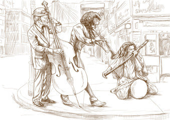 bit strange band - hand drawing