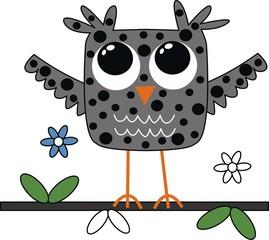 a sweet little grey owl