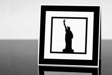 Frame with Statue of Liberty