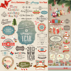 Wall Mural - Christmas vintage Scrapbook set