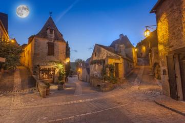 medieval village of Beynac, Dordogne, France Wall mural