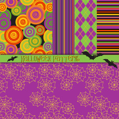 5 Seamless Halloween Patterns