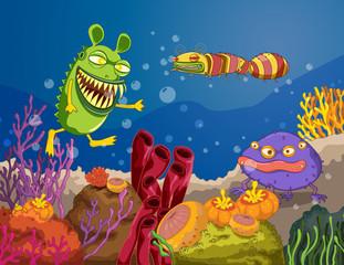Poster Submarine monster