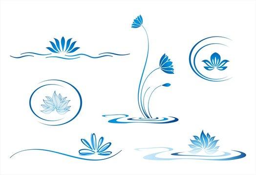 water lily , Buddha , Eco friendly business logo design