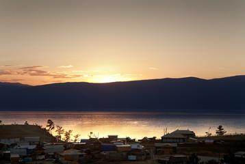 Sunset on Olkhon.