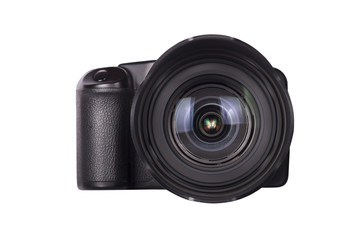 professional digital photo camera isolated