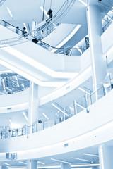 Modern Shopping center Interior and escalator