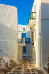 Small paths inside the capitol of  Mykonos Island Cyclades Greec