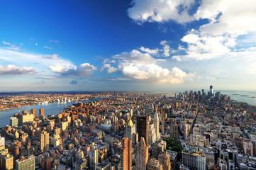 Fotomurales - Vue aérienne de l'île de Manhattan, New York.