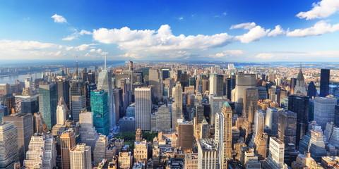 Fotomurales - Vue aérienne du nord de Manhattan, New York.