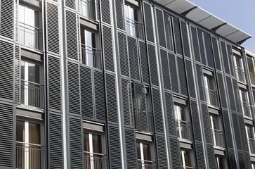Moderne Fassade in Amsterdam, Niederlande