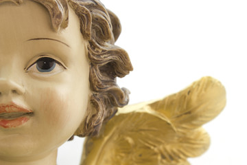 Close-up of the face of an angel Christmas
