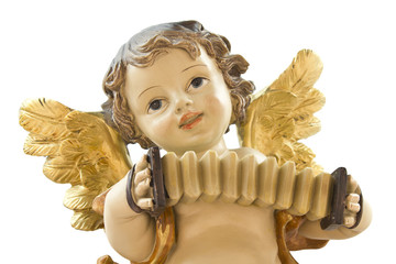 Little angel with accordion