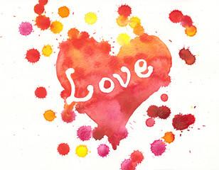 Herz der Liebe Aquarell