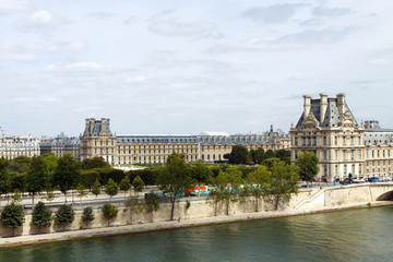 The Louvre, across the Seine River, Paris, France